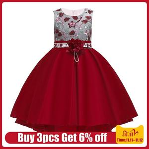 LZH Kids Party Dress For Girls Embroidered Dress Fower Girls Wedding Party Princess Dresse Children Clothes 3 4 5 6 7 8 10 Years