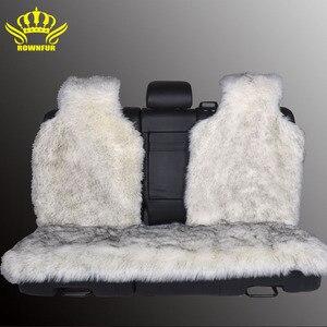 Image 2 - Housse de siège arrière, fausse fourrure, 4 couleurs, universelle pour tous les types de sièges, pour voiture lada priora, pour peugeot 406, lada, 3 pièces