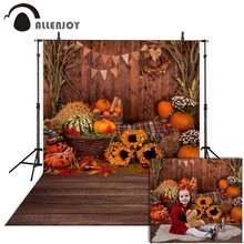 Allenjoy Хэллоуин фоны осень Тыква Подсолнечник сарай деревянный