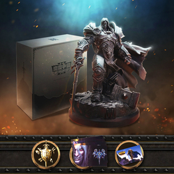 Официальный Lience Warcraft III: Reforged 3 WOW Lich King Arthas Menethil Ограниченная Коллекция статуя Подарочная коробка посылка