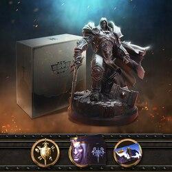 Officiële Lience Warcraft III: Hersmeden 3 WOW De Lich King Arthas Menethil Limited Collection Editie Standbeeld Gift Box Pakket