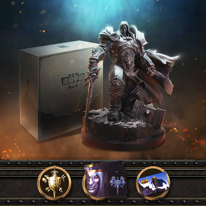 Official Lience Warcraft III: Reforged 3 WOW The Lich King Arthas Menethil Limited Collection Edition Statue Gift Box Package