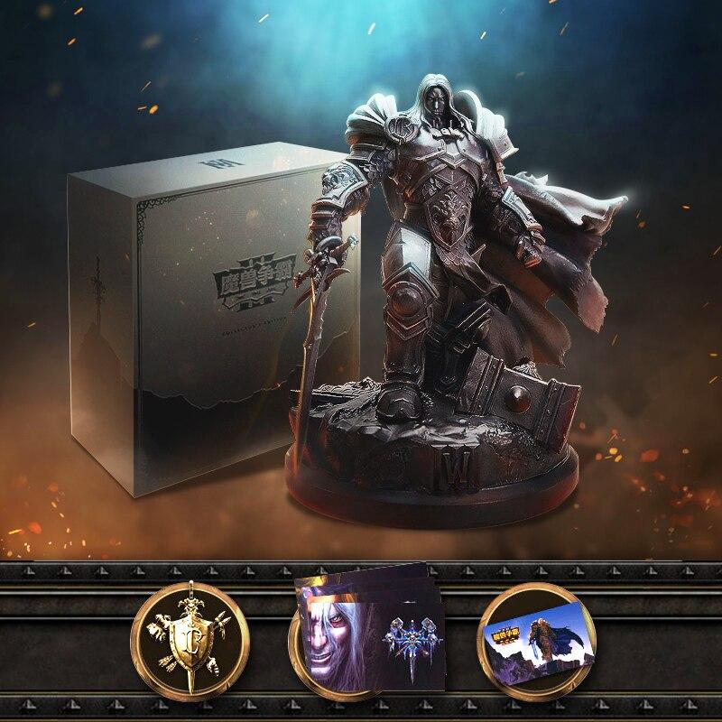 Oficjalny Lience Warcraft III: odrobiony 3 WOW Lich King Arthas Menethil limitowana kolekcja edycja statua pudełko pakiet
