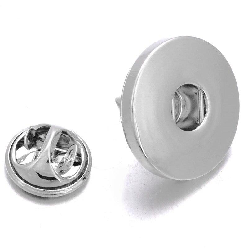 Новая оснастка ювелирные изделия 18 мм металлическая оснастка Кнопка Брошь для женщин свадьба DIY фурнитура модные аксессуары ZI041