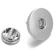 Nova snap jóias 18mm metal botão snap broche para o casamento feminino acessórios diy moda zi041