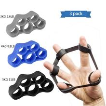 3pcs Finger Trainer Silicone Finger Stretcher Hand Exercise Grip Strength Resistance Bands Training for Finger Force Grip Device