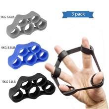 3 pçs finger trainer silicone dedo maca mão exercício aperto resistência bandas de treinamento para dispositivo aperto da força do dedo