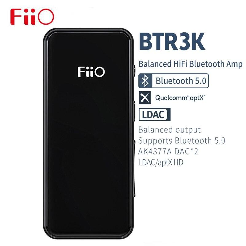Fone de Ouvido Amp com Ak4377a2 Fiio Nova Marca Alta Fidelidade Bluetooth 5.0 Esportes Receptor – Dac | Aptx hd Ldac Suporte 3.5mm & 2.5mm Btr3k