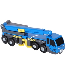 Multifunctional Train Toy Set Accessories Mini Crane Truck Toy Vheicles Kids Toy Compatible with Wooden Tracks Railway