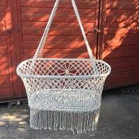 Swing Tassels Hammock Chair Hanging Hook Safety Kids Bedroom Indoor Garden Seats