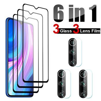 Szkło hartowane 6 w 1 dla Xiaomi Redmi Note 8 Pro Note 7 Pro Redmi 8A 8 7 7A folia ochronna do ekranu dla Redmi Note 8T szkło tanie i dobre opinie Micgita TEMPERED GLASS Przezroczysty CN (pochodzenie) Full Cover Glass + Camera Lens Film 0 26mm For Xiaomi Redmi Note 8 Glass