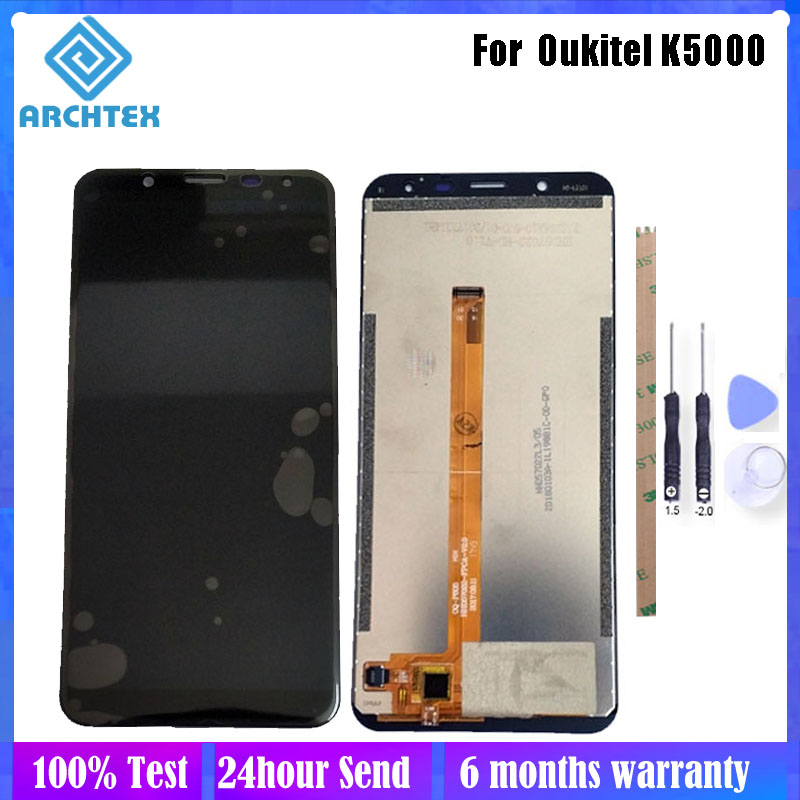 5.7 inch For <font><b>Oukitel</b></font> <font><b>K5000</b></font> LCD Display + Touch <font><b>Screen</b></font> Digitizer Assembly Parts 1440x720P 100% Tested + Tools image