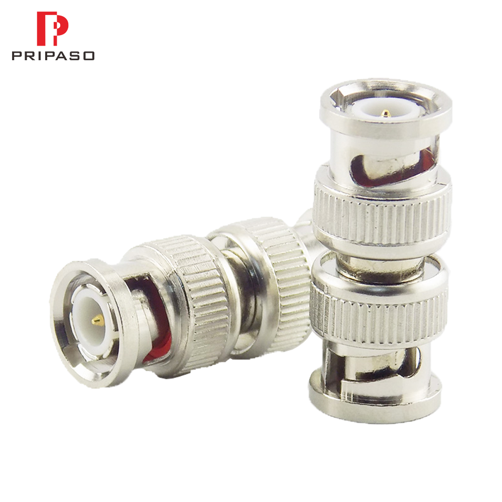 10 Pcs For RG59 CCTV Camera Security Video Surveillance System BNC Connector Adapter RF Convertor Male To Bnc Male Coupler