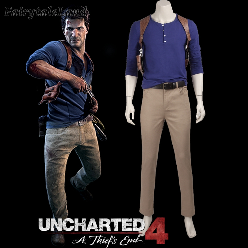 Uncharted 4 A Thief S End Nathan Drake Cosplay Costume Superhero