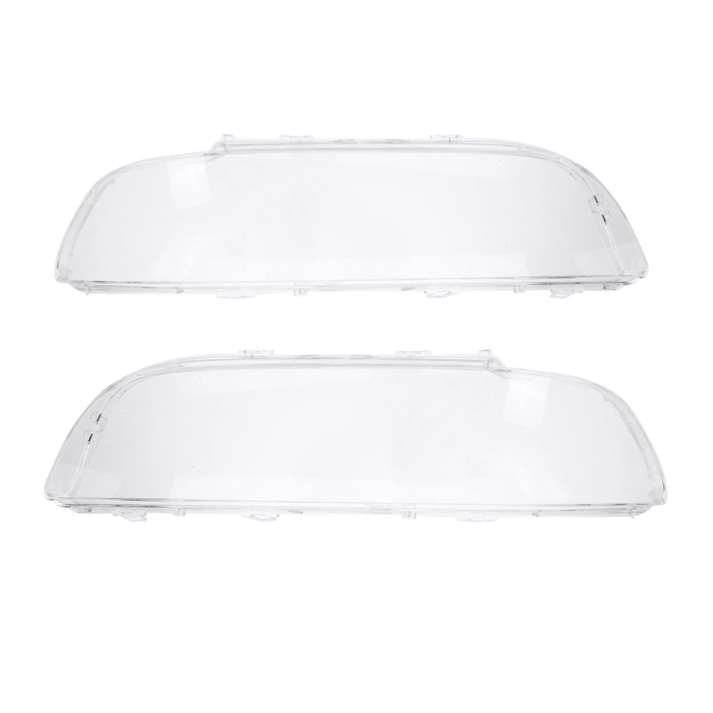 Car ABS Headlight Clear Lens Cover Clear Lamp Cover Shell Lampshade Bright For BMW E39 1996-2003 Auto Accessory