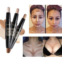 Double-ended 2 In1 Contour Stick Contouring Highlighter Bronzer Create 3D Face Makeup Concealer Full Cover Blemish недорого