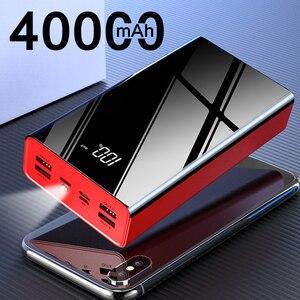 Mais novo 40000 mah 4 usb power bank portátil de carregamento rápido powerbank para xiao mi mi ror tela poverbank carregador bateria externa