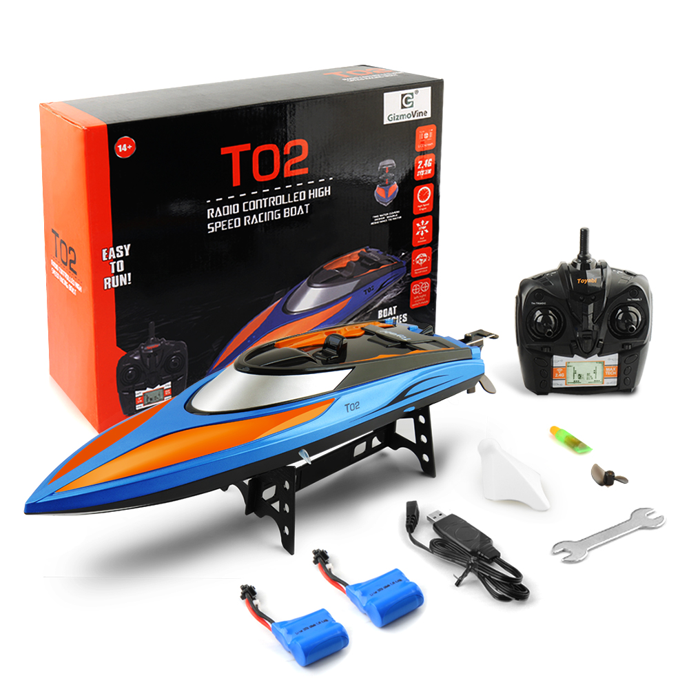 GizmoVine Rc Boat Toys High Speed 30km/h 4CH Radio Fishing Boat 2.4G Remote Control Boat Rc Playsets Gifts Toys For Children|  - title=