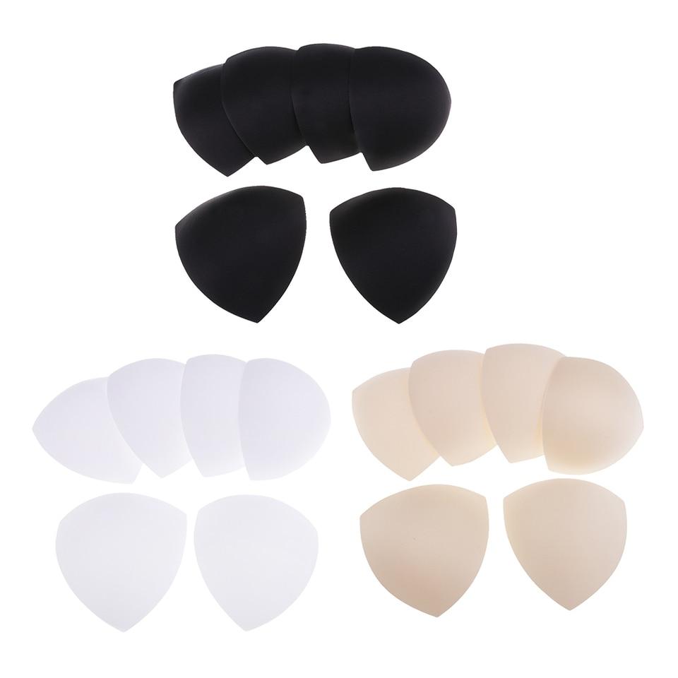 3 Pairs White Triangle Insert Pads Cup Bra Women Sports Enhancer Yoga Bikini