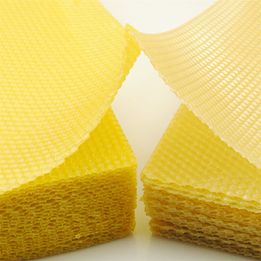 10pcs/30pcs Beeswax Sheets With Honeycomb Texture Bees Wax Coated Deep Foundation Flake Nest Base NIN668