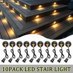10 PCS/Pack LED pont lumières demi-lune SMD5050 jardin voie étape escalier lampe décor souterrain étanche projecteur extérieur