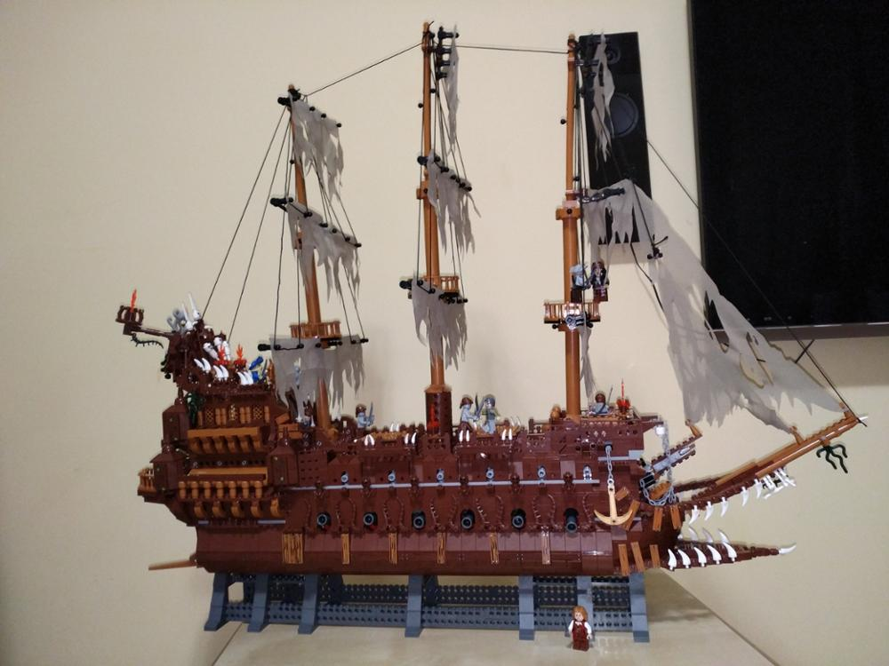 16016 Pirates of the Caribbean Movies Series MOC The Flying Netherlands Building Blocks Bricks Kids Toys Christmas gift 83015 11