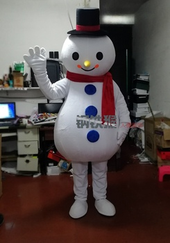 Cosplay Costumes Good Quality Cheap Price Adult Snowman Mascot Costume for Christmas Halloween Fancy Party Mascot Costumes