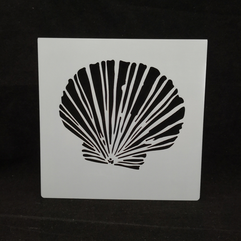 13*13 Shell Pvc Layering Stencils For Diy Scrapbook Coloring,painting Stencil,home Decor Diy Etc. Product Image
