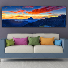 RELIABLI ART Mountain Clouds Sky Landscape Canvas Painting Wall Art Pictures For Living Room Posters And Prints Decorative