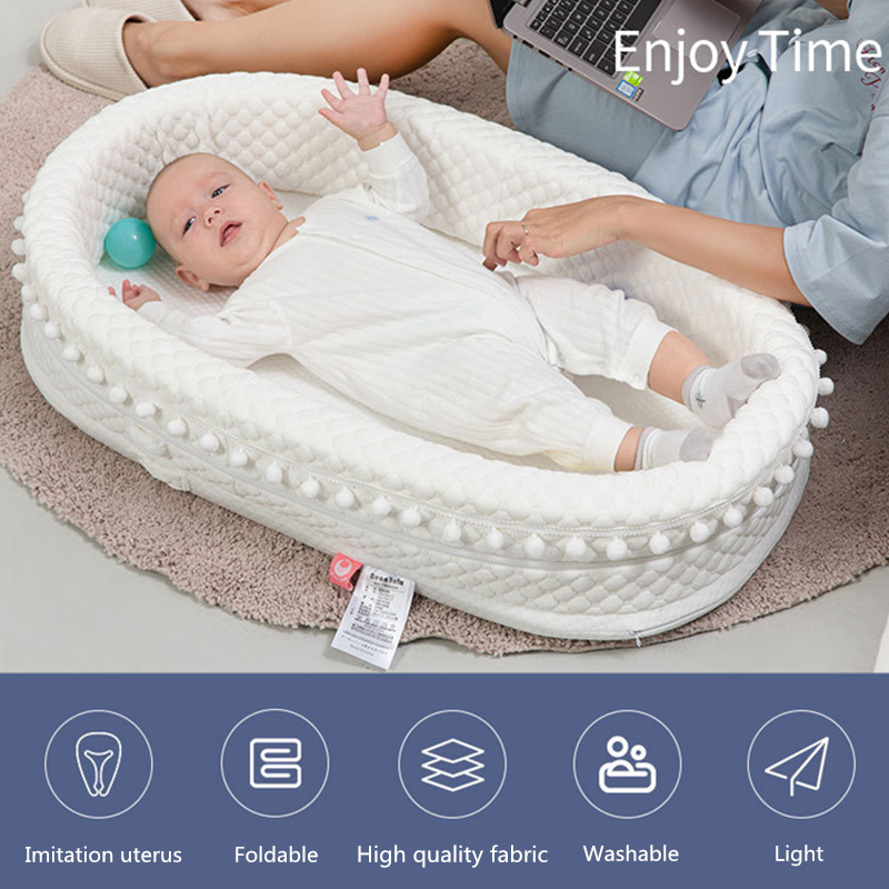 New Multi-Function Baby Nest Bed For Boys Girls Portable Travel Bed Infant Cotton Cradle Crib Baby Newborn Movable Bed Baby Bed