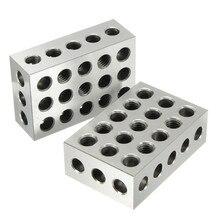 2 шт 25x50x75 мм закаленные стальные блоки 23 Отверстия параллельный зажимной блок токарный станок инструменты точность 0,005 мм для станка