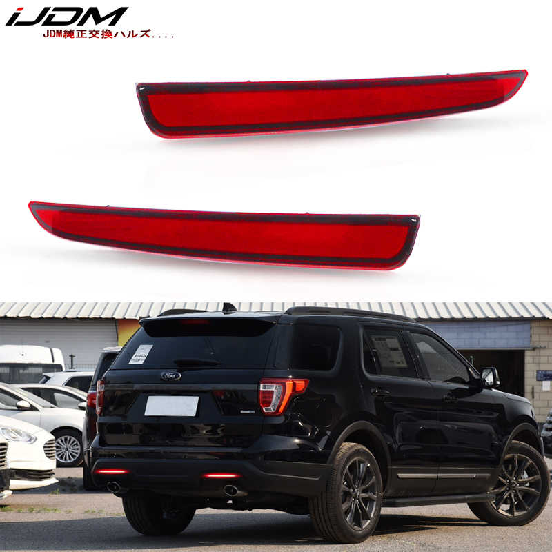 Miniclue Smoked Lens Full LED Tail Brake Rear Fog Lamps Bumper Reflector Lights Compatible with 2016-2019 Chevrolet Camaro Traverse Cadillac ATS XT5