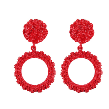 Women Earrings Girls Exaggerated Modern Fashion Drop Hanging Dangle Earring Jewelry Vintage Trend Pendant Geometric 5