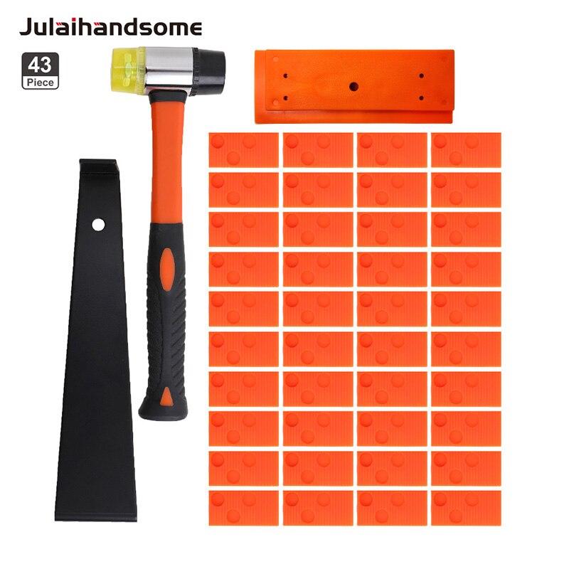 Julaihandsome  Professional Laminate Wood Flooring Installation Kit  Spaces Tapping Block Pull Bar Mallet Hand Tool Set
