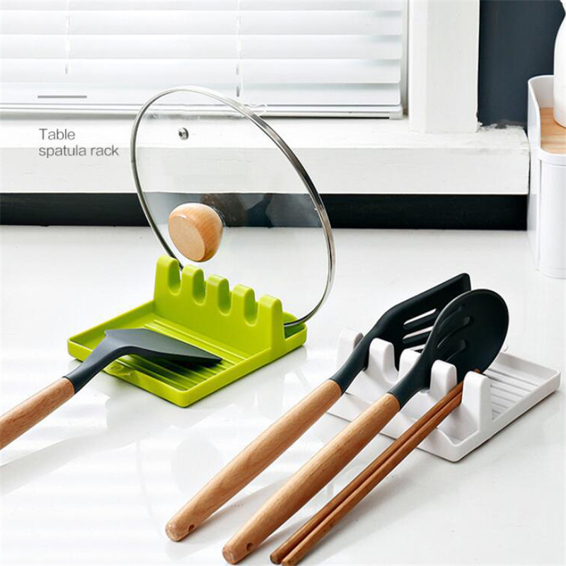 Kitchen Utensil Holder Silicone Spoon Spatula Rack Shelf Multipurpose Stand Kitchen Storage Shelves Accessories Organizer 1pc