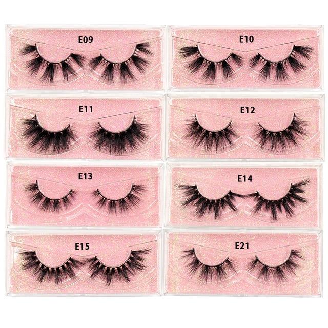 LEHUAMAO Makeup Mink Eyelashes 100% Cruelty free Handmade 3D Mink Lashes Full Strip Lashes Soft False Eyelashes Makeup Lashes 6