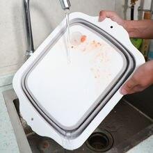 Корзина для мытья рабочая доска слива удобная пластиковая разделочная