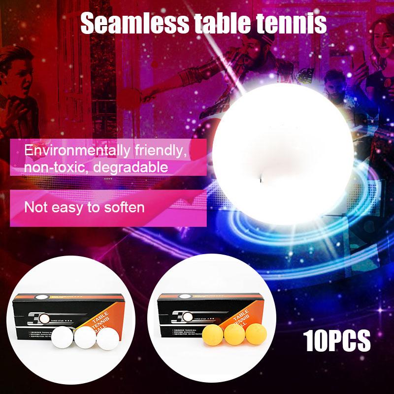 Hot Sale 10pcs Table Tennis Balls 3 Star 40+ ABS Plastic Ping Pong Balls Table Tennis Training Balls ED889
