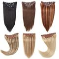 Sindra Brasilianische Haar Gerade Clip in Menschliches Haar Extensions Maschine Made Remy 7 teile/satz Reine Klavier Balayage Farbe 14 -24