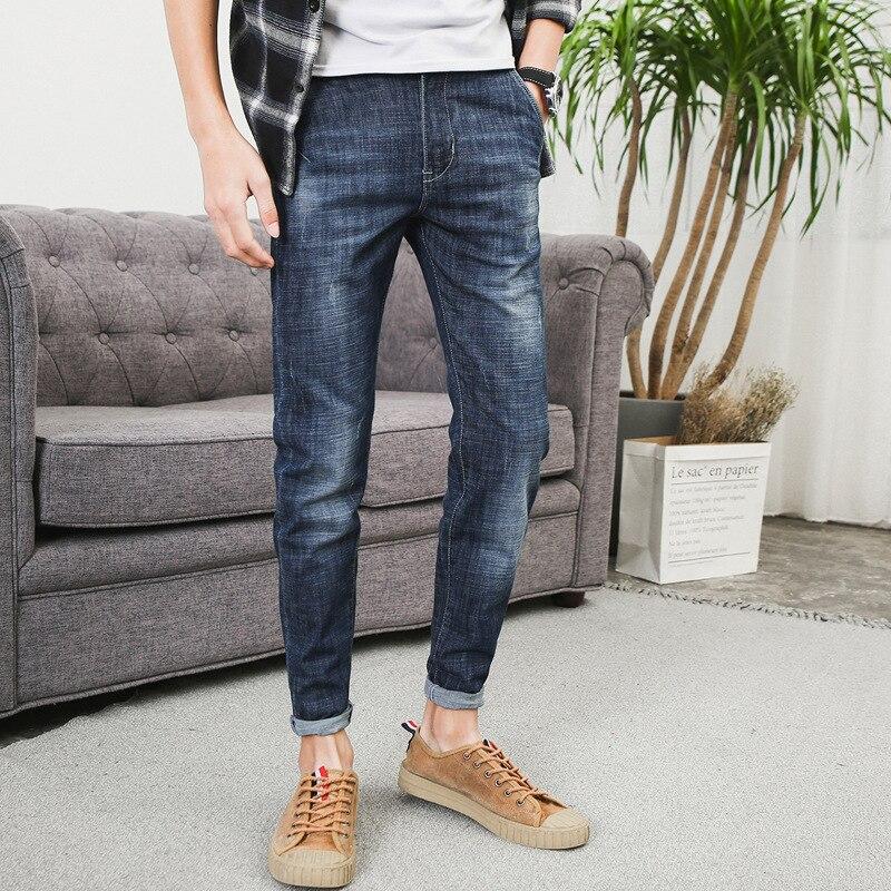 Korean-style Slim Fit Jeans Men Youth Skinny Jeans Men's Elasticity Autumn Trend MEN'S Jeans