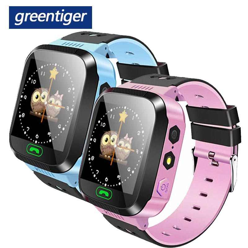 Greentiger Q02 Anak Smart Watch Kamera Pencahayaan Touch Screen SOS Call Lbs Pelacakan Lokasi Finder Anak-anak Bayi Smart Watch