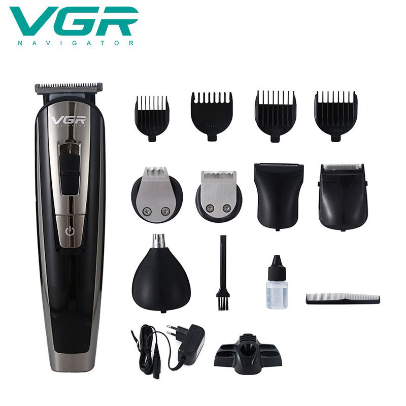 VGR 11 In 1 Multifunction Hair Trimmer Beard Trimer For Men Electric Stubble Edge Razor Hair Cutter Machine Haircut Trimer Cutte