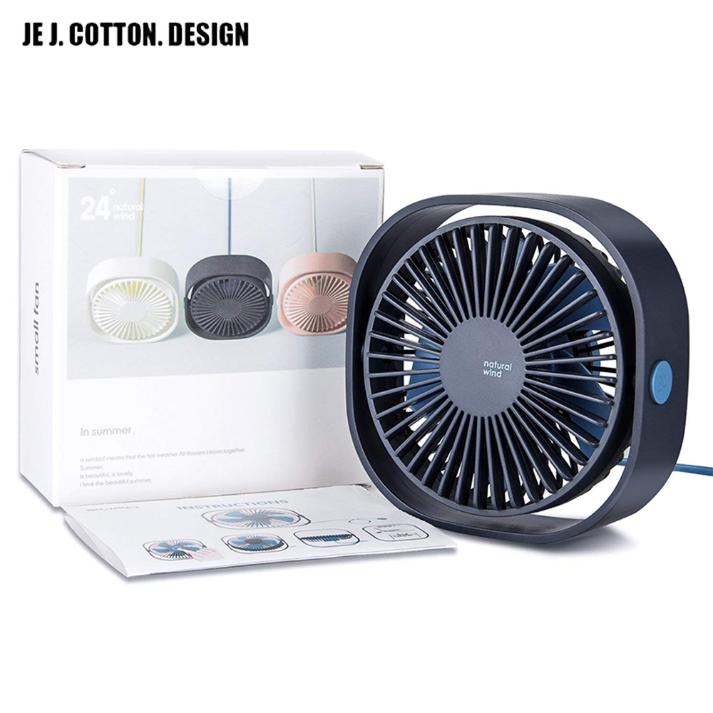 USB Desktop Mini Fan 3 Speed Personal Portable Cooling Fan With 360 Rotation Adjustable Angle For Office Household Traveling Car