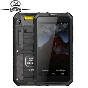 CONQUEST S10 NFC IP68 shockproof mobile phone Walkie Talkie Strong Flashlight MTK6753 Octa Core 3GB +32GB 4G Rugged Smartphone conquest s12 pro 4g rugged smartphone ip68 waterproof 5 99 inch ips android 9 0 6gb 128gb nfc outdoor walkie talkie mobile phone