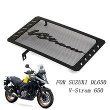 Para suzuki dl650 V-STROM dl 650 vstrom dr650s 2013-2019 grade de radiador guarda protetor de aço inoxidável capa motor bicicleta
