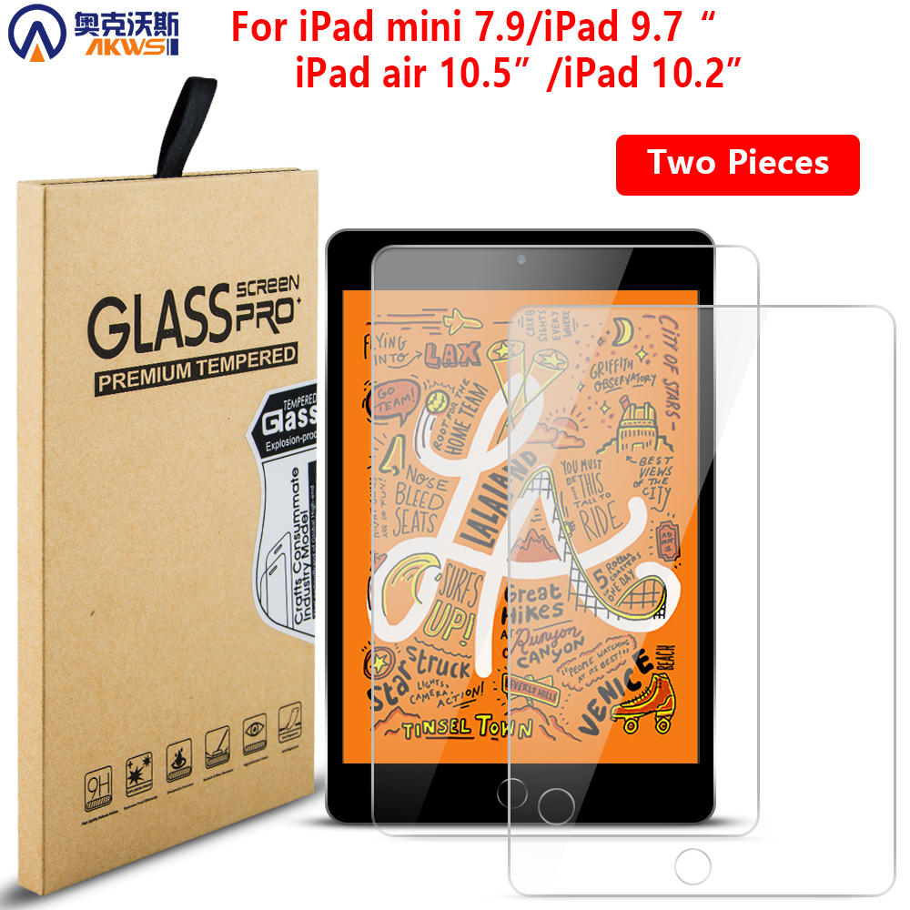Tempered Glass For IPad 9.7 Air 1 2 Screen Protector For IPad Mini 5 4 Protective Film For Ipad 10.5 Air3 Ipad 10.2 Pro 7th 2019