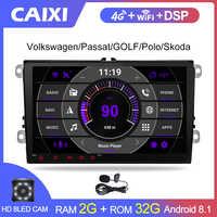 2 Din radio voiture Android 8.1 GPS multimédia pour Volkswagen Skoda Octavia golf 5 6 touran passat B6 polo tiguan yeti rapid Bora