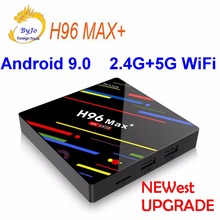 Newest H96 Max+ Android TV Box Android 9.0 2.4G 5G WiFi Iptv