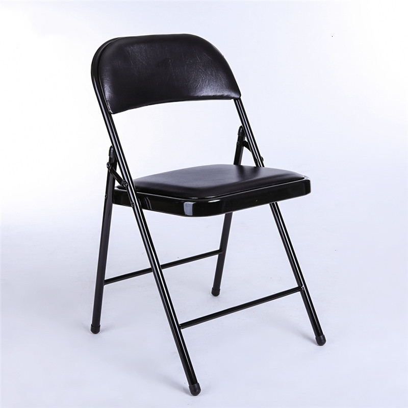 To Work In An Office Folding Chair Leatherwear Reinforced Activity Metal Fold Chair Meeting Train Chair Home Computer Chair