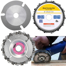 Wood Carving Disk 5 In Grinder Disc Chain Woodworking Saw Blade Cutting Blade Wood Slotted Saw Blade For 12522mm Angle Grinder